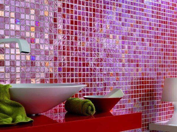 розовая керамическая мозаичная плитка