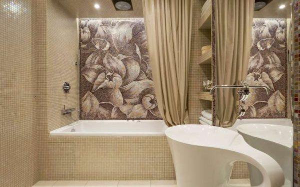 мозаичное панно в ванной