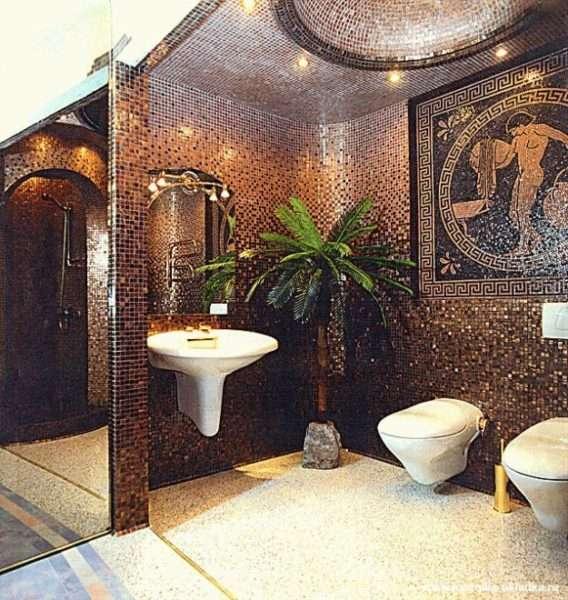 греческие мотивы из мозаики в ванной