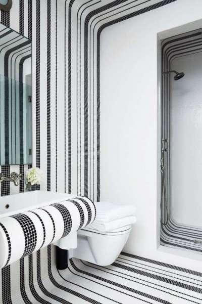 Керамическая мозаичная плитка в ванной