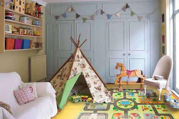развивающий мягкий пол в детскую комнату