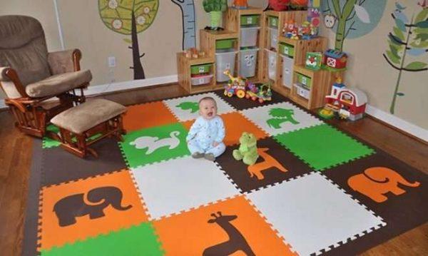 мягкий коврик пол