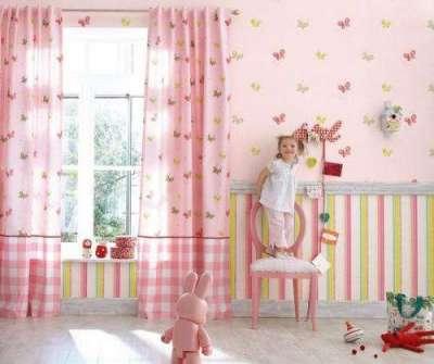 текстильные обои в детскую комнату