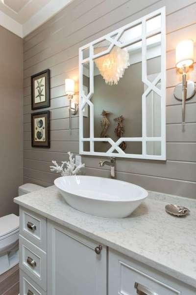 панели пвх смотрятся стильно в ванной комнате