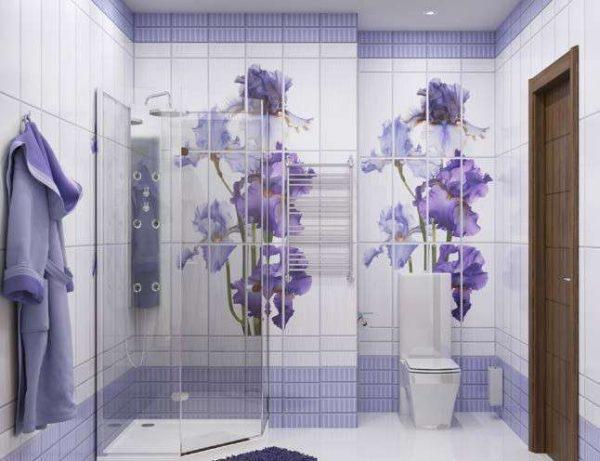 панели пвх с рисунком 3д в ванной