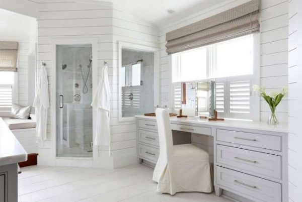 панели пвх в интерьере ванной в стиле прованс