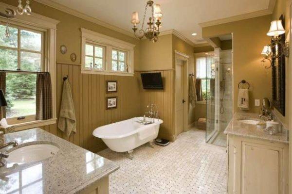 пластиковые панели на стене в ванной
