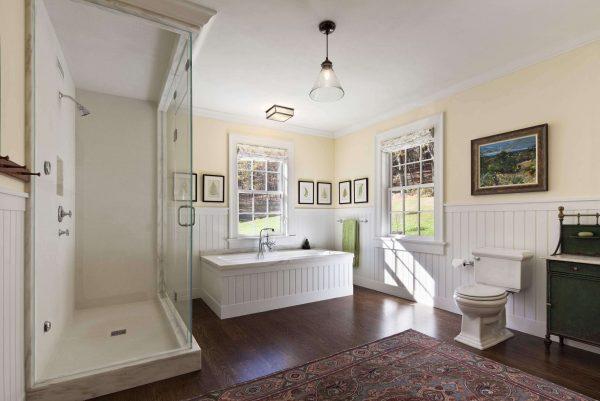 белые панели пвх в ванной комнате