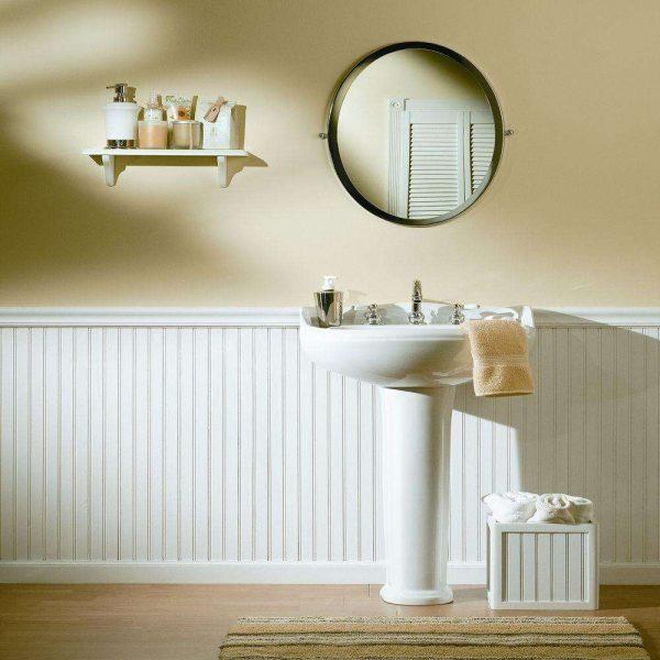 панели пвх в ванной комнате до половины стены