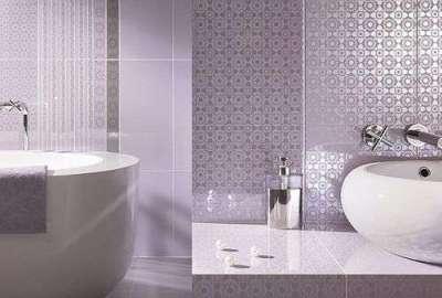 пластиковые панели с узором в ванной