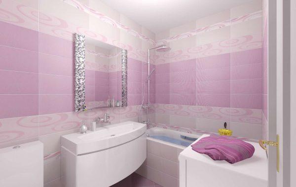 фиолетовые панели пвх в ванной комнате