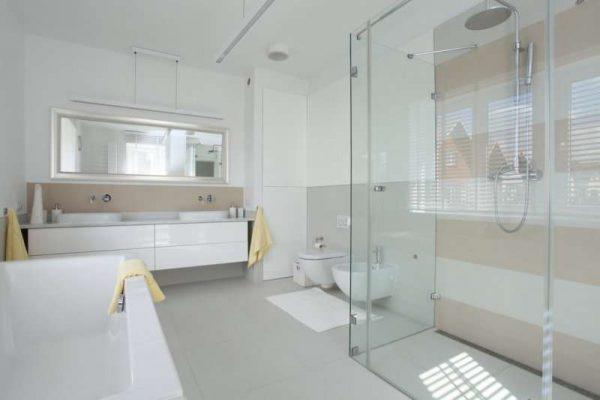 светлые панели пвх в ванной комнате