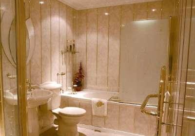 вертикальные пластиковые панели в ванной