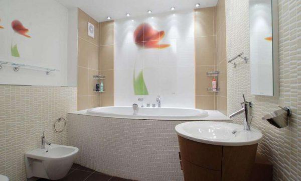 панели пвх с 3 д рисунком в ванной
