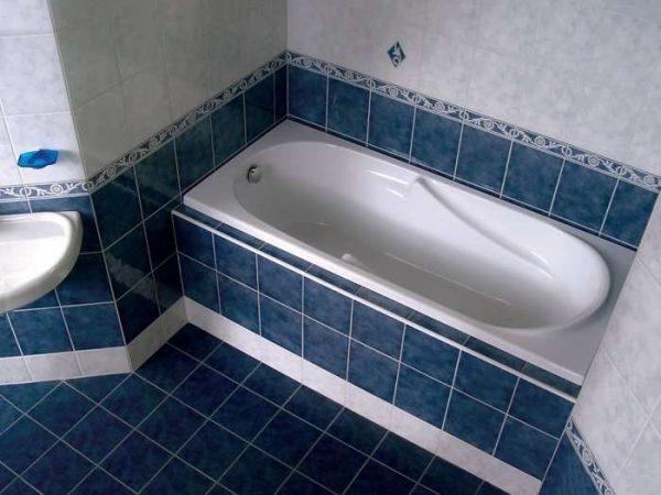 полы из плитки в ванной