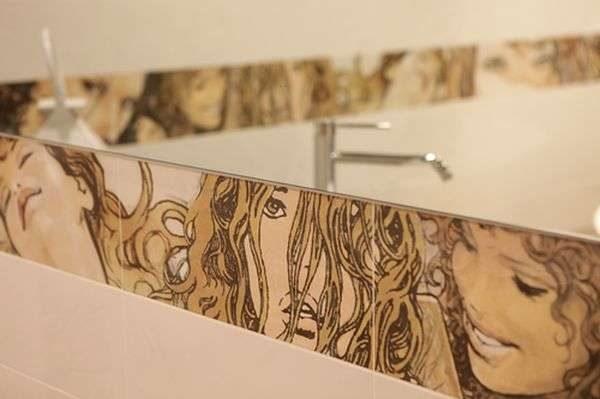 декоративные бордюры в ванной