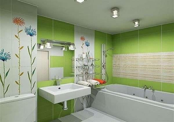 плитка с рисунком в ванной своими руками