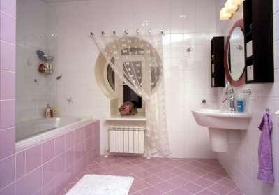 фиолетовая плитка в ванной комнате своими руками
