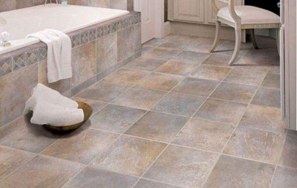 плитка в ванной на полу