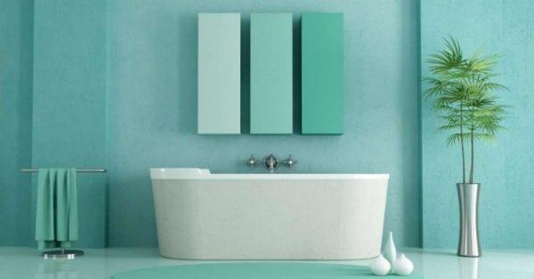 матовые стены в ванной