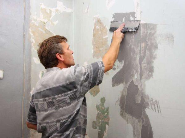 зачистка стены перед покраской