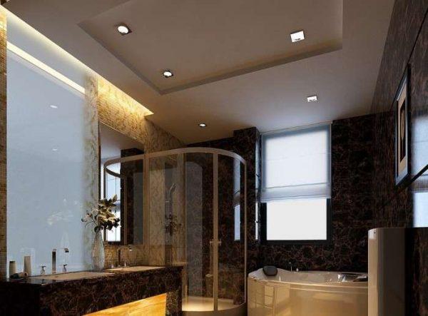 гипсокартон на потолке в ванной комнате