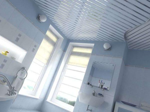 пластиковый потолок в ванной комнате