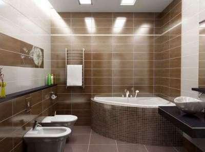 расчет прямоугольной плитки в ванную