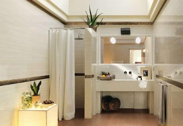 интерьер ванной комнаты с душем