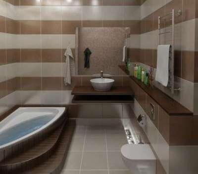 вертикальная плитка в ванной комнате