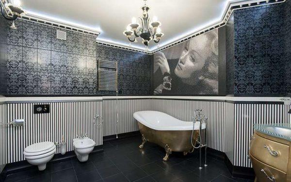 плитка в ванной комнате в стиле классика