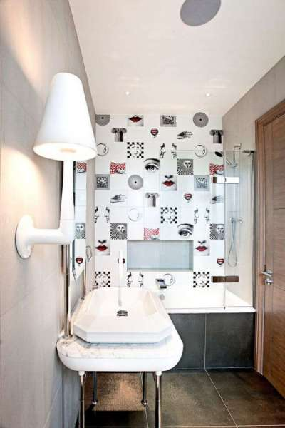 дизайнерская плитка в ванной комнате
