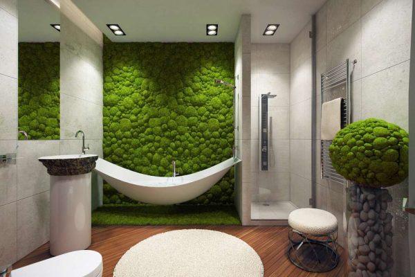 современная ванная комната в эко стиле