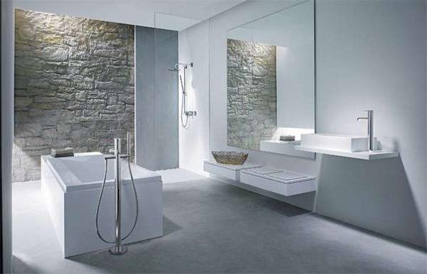 современная ванная комната в белом цвете