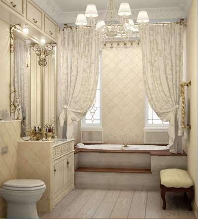 интерьер ванной в классическом стиле