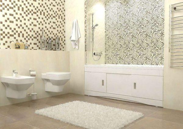 панели пвх в ванной с рисунком