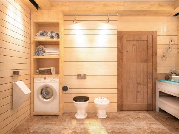 вагонка в ванной комнате в деревянном доме