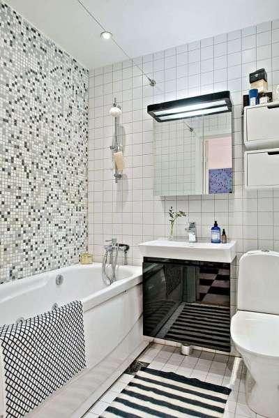 плитка на стенах в ванной