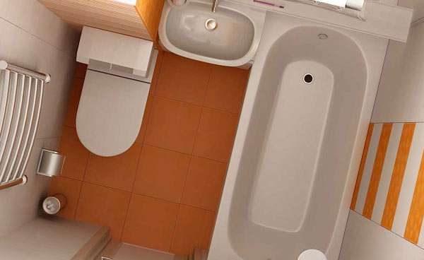 план размещения сантехники в небольшой ванной комнате
