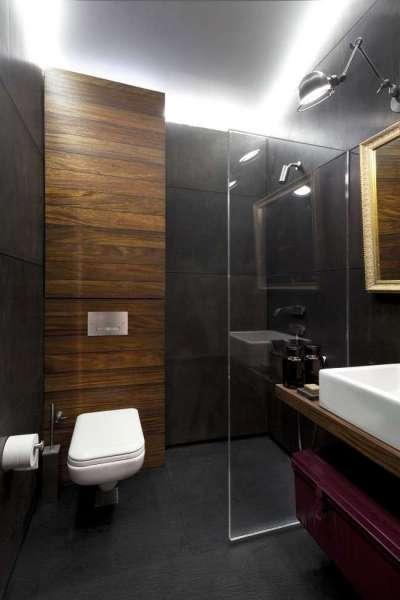 интерьер маленькой ванной совмещенной с туалетом