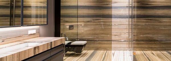 Натуральный мрамор в ванной