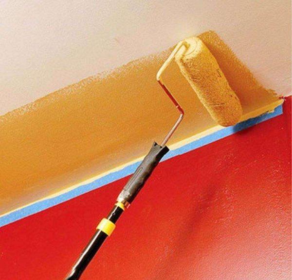 краска на потолке в ванной