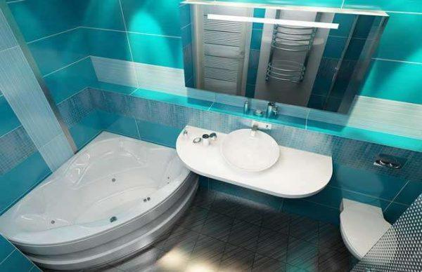 эргономичное размещение ванной комнаты с туалетом