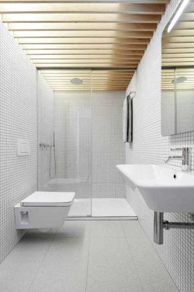 интерьер ванной комнаты в минималистическом стиле