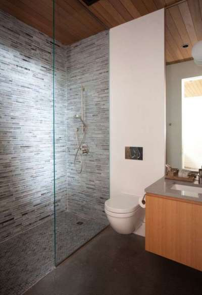 зонирование ванной комнаты с туалетом