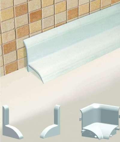 пластиковый бордюр для щелей в ванной