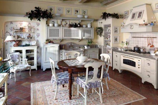 прованс на кухне в частном доме