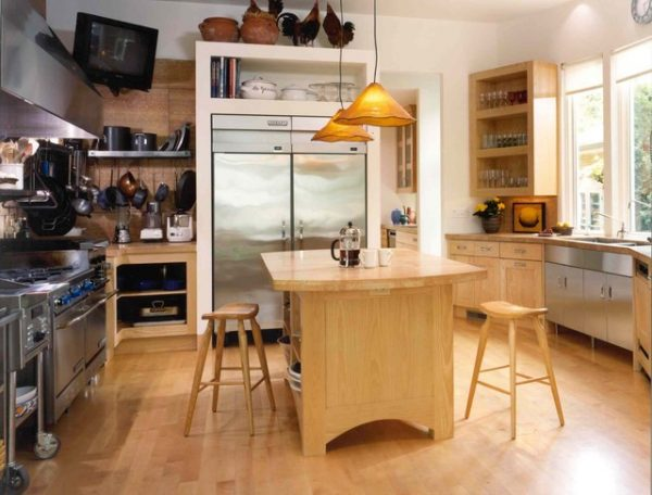 кантри на кухне в частном доме