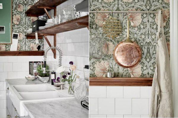 декор стен кухни в деревенском стиле