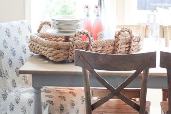 декор на столе кухни в стиле кантри